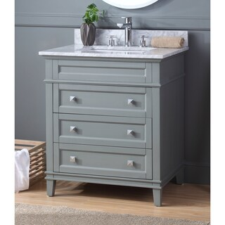 "30"" Tennant Brand Felix Modern Style Gray Bathroom Vanity"