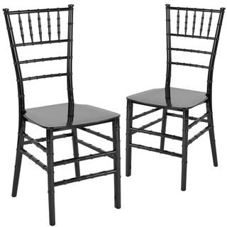 2 Pk. HERCULES Series Gold Resin Stacking Chiavari Chair