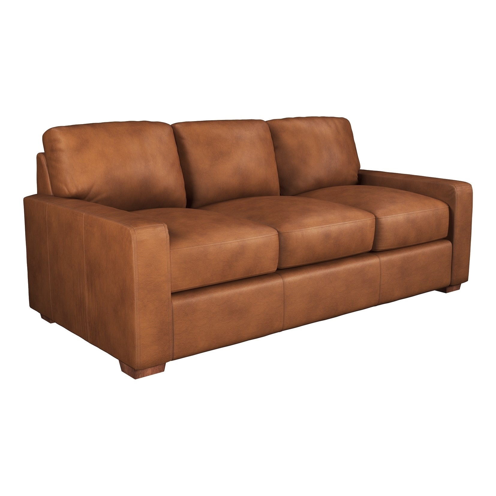- Shop Made To Order Maxim 100% Top Grain Leather Sofa - On Sale