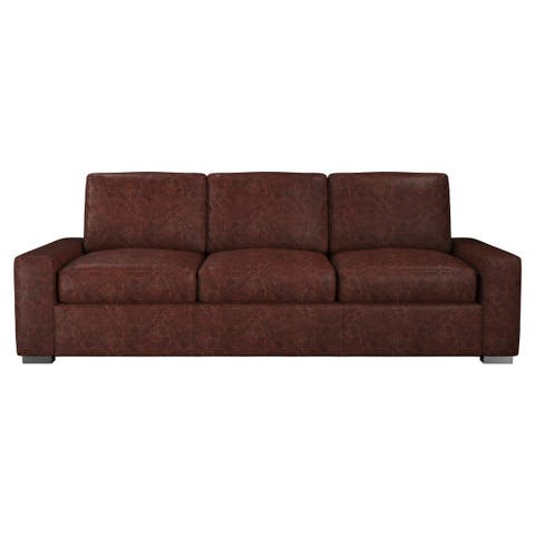 Made to Order Monza 100% Top Grain Leather Sofa