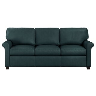 Made to Order Asti Genuine Top Graqin Leather Queen Sleeper Sofa