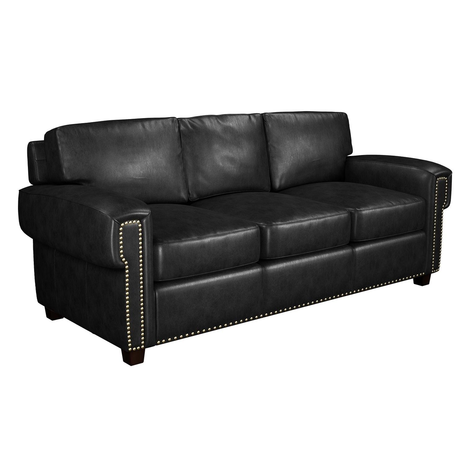 Shop Black Friday Deals On Made To Order Como 100 Top Grain Leather Queen Sleeper Sofa Overstock 23620554