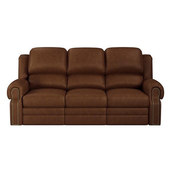 Shop Made To Order Tours 100% Top Grain Leather Sofa