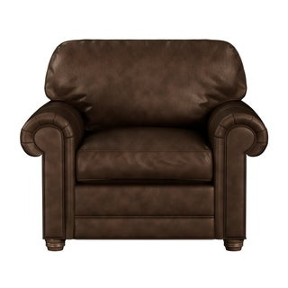 Link to Made to Order Lansdown 100% Top Grain Leather Chair Similar Items in Living Room Chairs