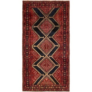 Hand Knotted Koliaei Semi Antique Wool Runner Rug - 4' 10 x 9' 5