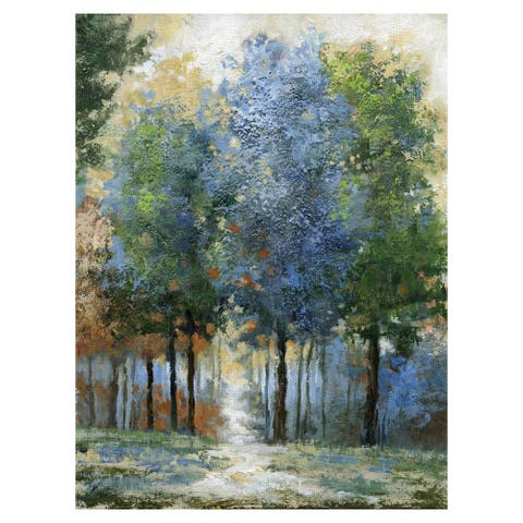 Masterpiece Art Gallery Afternoon Light Colorful Forest By Nan Canvas Art Print