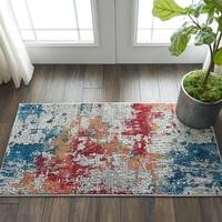 Nourison Global Vintage Multicolor Abstract Area Rug - 2' x 4'