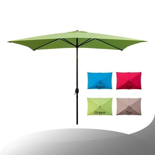 Maypex 10 X 6.5 Feet Rectangular Market Umbrella - Lime Green