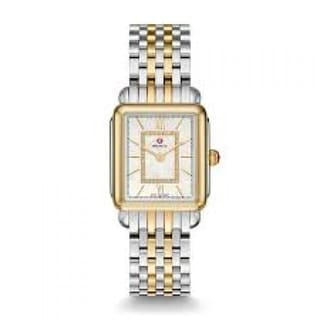 Link to Michele Deco II Mid Diamond Dial Two-tone Steel Ladies Watch Similar Items in Women's Watches