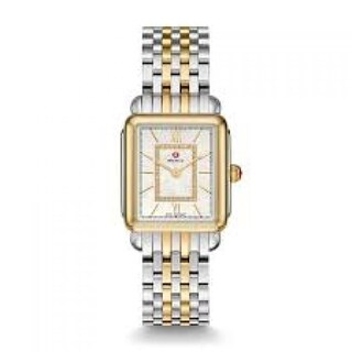 Michele Deco II Mid Diamond Dial Two-tone Steel Ladies Watch
