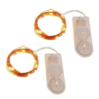 Warm White Mini LED String Lights Copper Wire Set of 2