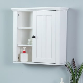 White bathroom wall cabinets 500mm Bathroom Wall Storage Cabinet In White Overstock Buy Wall Cabinet Bathroom Cabinets Storage Online At Overstockcom