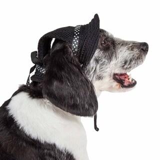 Pet Life ® 'Sea Spot Sun' Uv Protectant Adjustable Fashion Mesh Brimmed Dog Hat Cap