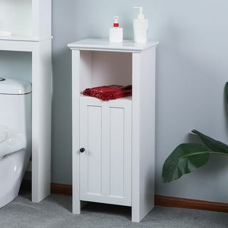 Bathroom 35.4in. H Slim Bathroom Storage Cabinet in White
