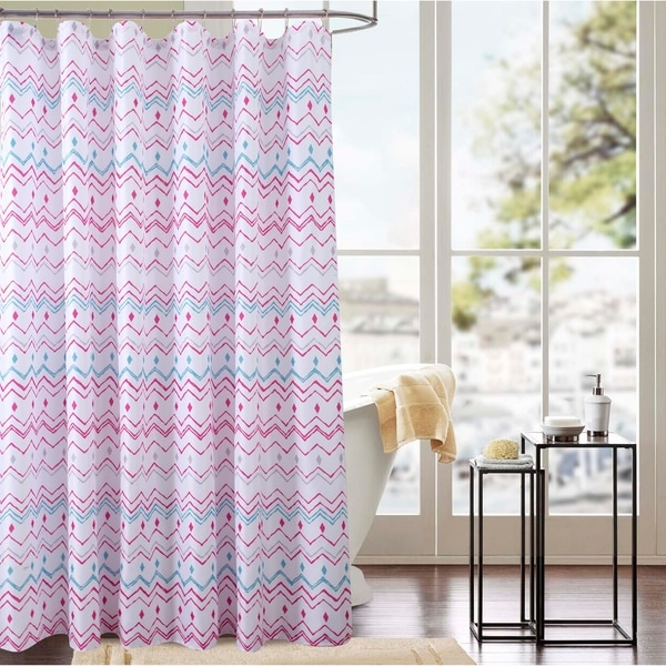 Classic Chevron 70 X 72 In Printed Shower Curtain