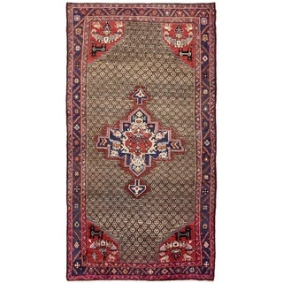 Hand Knotted Koliaei Semi Antique Wool Area Rug - 5' 3 x 10'