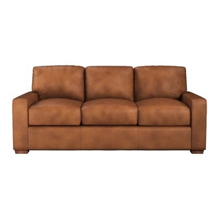 Made to Order Maxim 100% Top Grain Leather Queen Sleeper Sofa