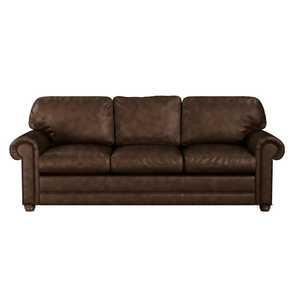 Grain Leather Sofa: Shop Made To Order Lansdown 100% Top Grain Leather Sofa