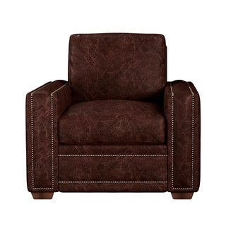 Link to Made to Order Evelyn 100% Top Grain Leather Chair Similar Items in Living Room Chairs