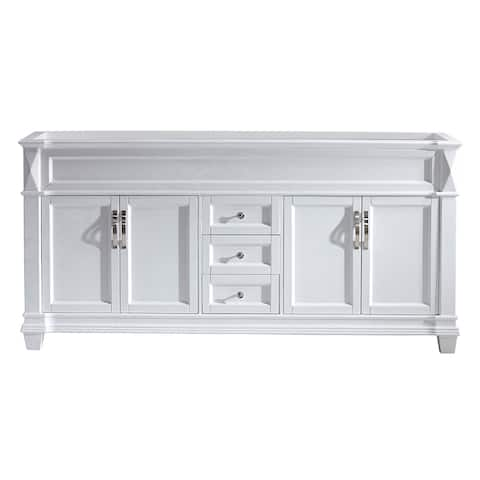 "Victoria 72"" Double Vanity Cabinet Only in White, Grey, or Espresso"