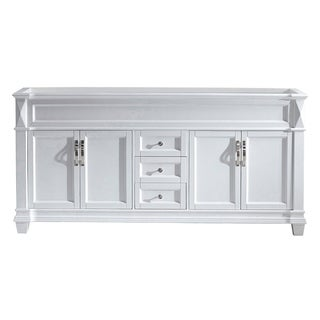 """Victoria 72"""" Double Vanity Cabinet Only in White, Grey, or Espresso"""