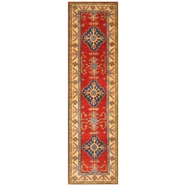 Handmade Kazak Wool Runner (Afghanistan) - 2'8 x 9'8