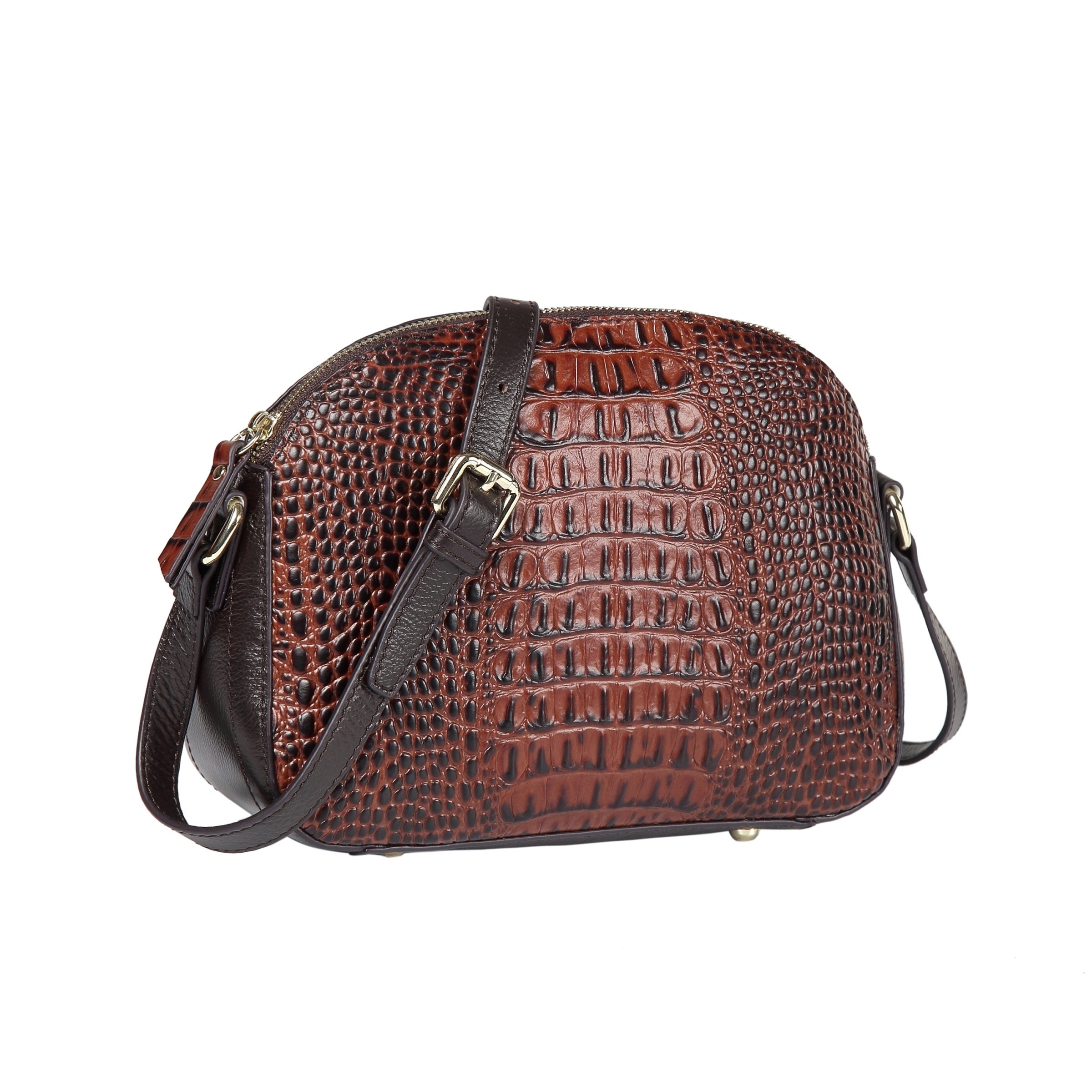 0b4a28b78780 Remmy Croc Embossed Leather Crossbody Bag