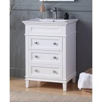 "24"" Tennant Brand Felix Modern White Sink Bathroom Vanity"