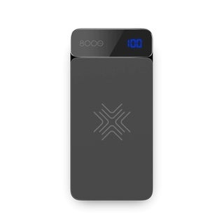 ROCK 8000mAh QI Wireless Charging Power Bank with Digital Display