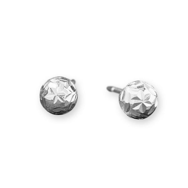 1abd778cfff255 Shop Sterling Silver Diamond-Cut Ball Hoop Earrings - 16mm - Free ...