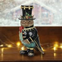 Christmas Owl in Top Hat