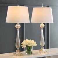 "Chloe 32.5"" Glass LED Table Lamp, Champagne (Set of 2) by JONATHAN  Y"
