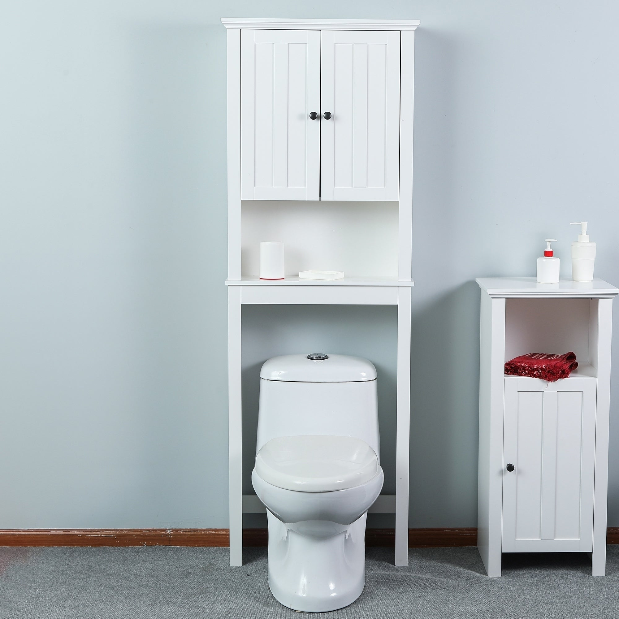 Toilet E Saver Cabinet In White