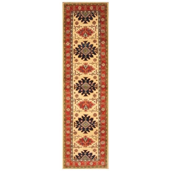 Handmade Kazak Wool Runner (Afghanistan) - 2'6 x 10'