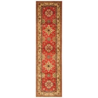 Handmade Kazak Wool Runner (Afghanistan) - 2'7 x 10'