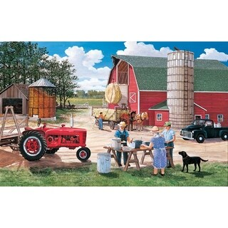 Lunchtime on the Farm 30 Piece Jigsaw Puzzle