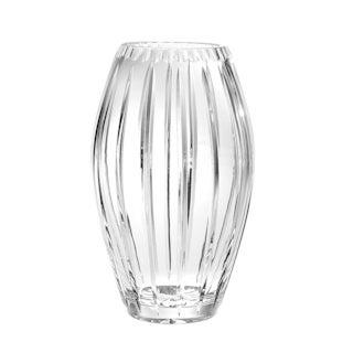 """Majestic Gifts High Quality Hand cut Crystal Decorative Vase-Joy Design - 8"""" H- Made in Europe"""