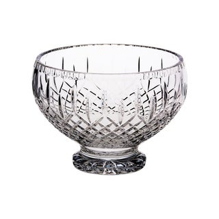 """Majestic Gifts European Cut Crystal Serving Bowl -8"""" Diameter - Made in Europe"""
