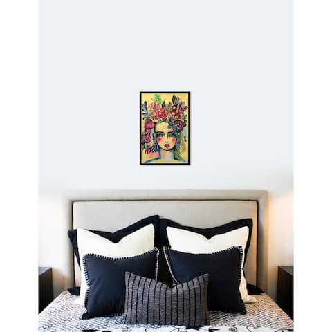 Oliver Gal 'Floral Goddess' Abstract Framed Wall Art