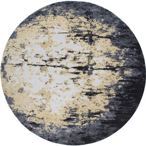 Grand Bazaar Milania Charcoal Rug - 8' x 8' Round