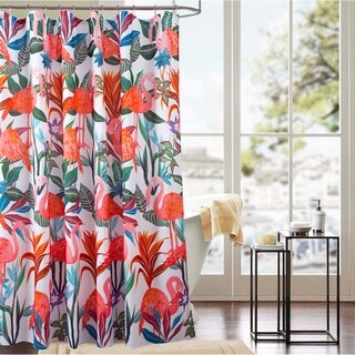 Classic Flamingo 70 x 72 in. Printed Shower Curtain