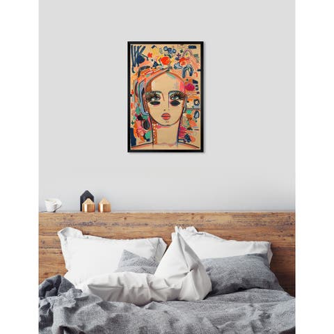 Oliver Gal 'ROSALINA - In Love With Coco' Abstract Framed Wall Art