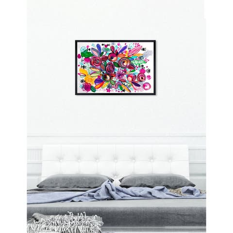 Oliver Gal 'ROSALINA - Happiness Garden' Floral and Botanical Framed Wall Art