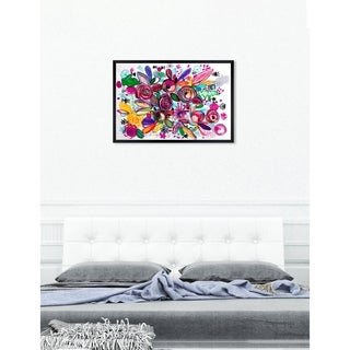 Oliver Gal 'ROSALINA - Happiness Garden' Floral and Botanical Framed Wall Art - MultiColor
