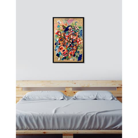 Oliver Gal 'ROSALINA - Lively Abstract' Floral and Botanical Framed Wall Art