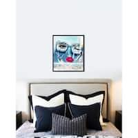 Oliver Gal  'Sara' Abstract Framed Wall Art - Blue