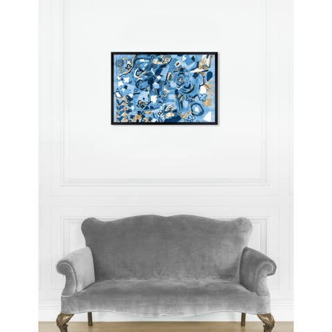 Oliver Gal 'ROSALINA - Mediterranean Blues' Abstract Framed Wall Art