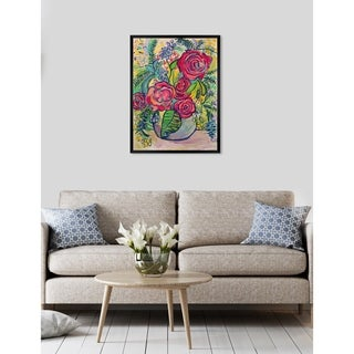 Oliver Gal 'ROSALINA - Spring Garden' Floral and Botanical Framed Wall Art - Pink