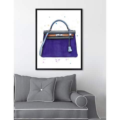 Oliver Gal 'Doll Memories - Violet' Fashion Framed Wall Art