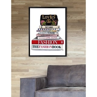 Oliver Gal 'Doll Memories - So Loved' Fashion Framed Wall Art - Red